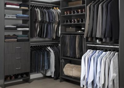 Walk In Closet - Licorice Walk - in Closet Executive His Masculine Suits Flat finish Pant rack