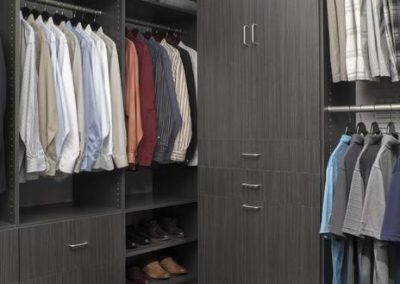 Walk In Closet - Licorice Walk-In Closet His Hers Executive Flat Finish Dark Grey Designer(1)