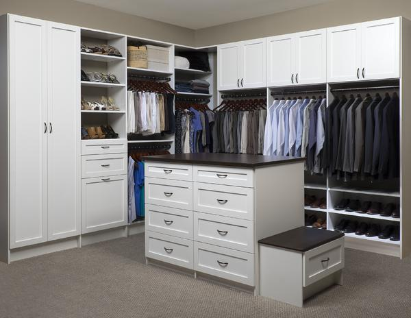 Genial Walk In Closet With Custom Island