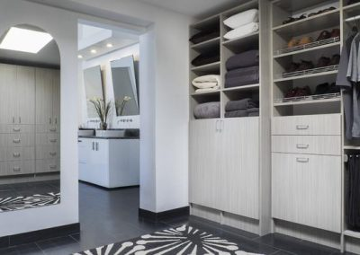 Walk In Closet - Concrete Walk-In Closets Mirrors Shoe Shelves Chrome fence pant rack grey(1)