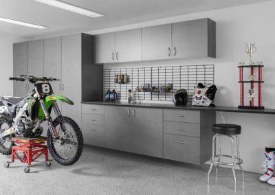 Garages - Pewter Garage Bike Workshop Storage