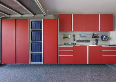 Garages - Red Garage Sliding Doors