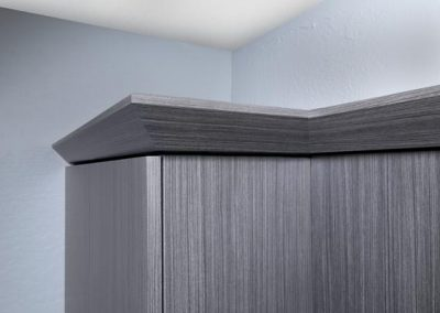 Office - Licorice Modern Crown Moulding