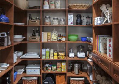 Pantry - Pantry Corner Shelves Baskets Pots Drawers