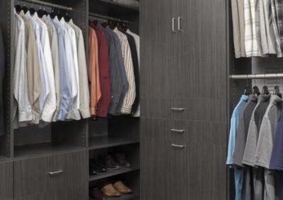 Walk In Closet - Licorice Walk-In Closet His Hers Executive Flat Finish Dark Grey Designer(1)