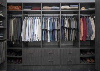 Walk In Closet - Licorice Walk In Closet Flat Drawer Finish Shoe Shelving Pants Rack