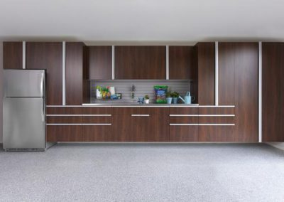 Garages - Coco Extruded Stainless Steel Handles Garage Cabinetry