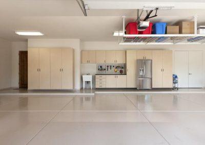 Garages - Maple Garage Storage with Fridge