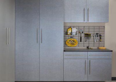 Garages - Pewter Garage Storage Flat Doors