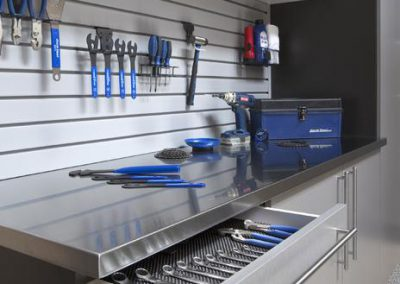 Garages - Stainless Steel Bench Top Tool Drawer