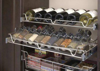 Pantry - Wine Racks Spice Baskets Coffee Pantry